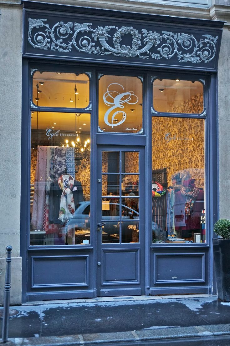vignette design: Window Shopping and Parisian Storefronts
