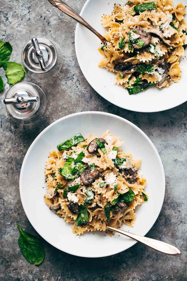 ... www foodandwine c creamy goat cheese pasta with spinach see more pin 1