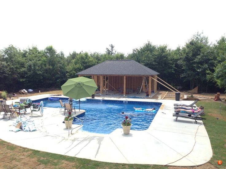33 best images about pools on pinterest pool fountain for Pool design for volleyball