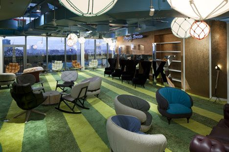 Google Super HQ by PENSON: Design Collection, Offices Design, Offices Spaces, Interiors Design, Google London, Google Hq, Google Offices, London Headquarters, London Offices