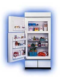 Sun Frost refrigerator / freezer.  Ideal for houses relying on solar panels for their electricity, or anyone who really wants to minimize their energy use.