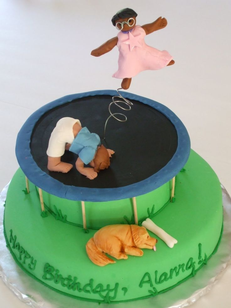 1000 Images About Trampoline Cakes On Pinterest Image