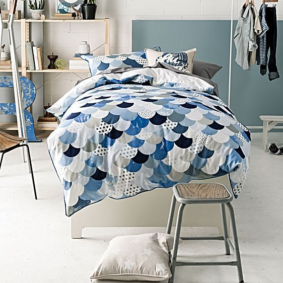 Tilda Quilt Cover Set, Blue by Marie Claire