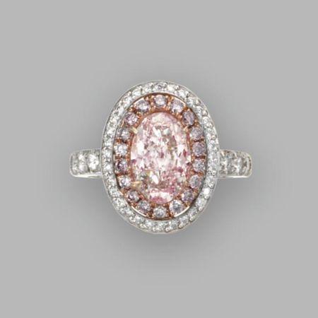 Fancy light pink diamond ring. Photo Sotheby's
