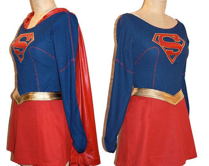 Supergirl Costume Replica or Simple... Melissa Benoist Super Girl Costume TV Series Costume... Choose your Style / Price...
