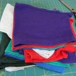 Crafting with T-Shirt Sleeves - how to repurpose a t-shirt into quilts, skirts, tank tops, grocery bags and turn sleeves into napkins.