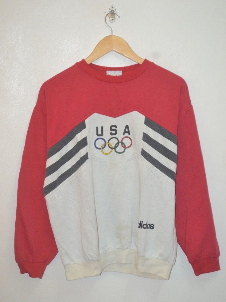 Vintage Rare Adidas Trefoil 80s 90s Run Dmc Olympic