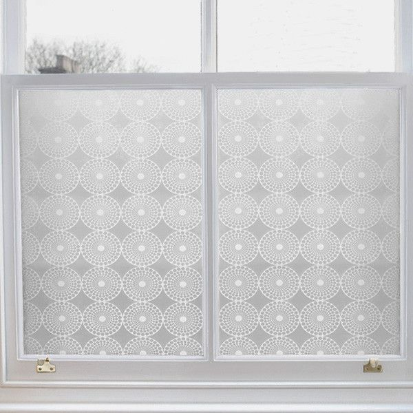 Emma Jeffs Pearl Adhesive Window Film - great idea for a bad view or a poorly placed bathroom window