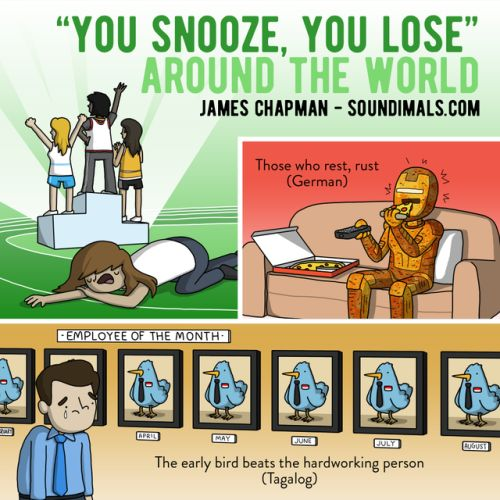 PICTURES BY JAMES CHAPMAN • Counterpoint: Snoozing is very important and...
