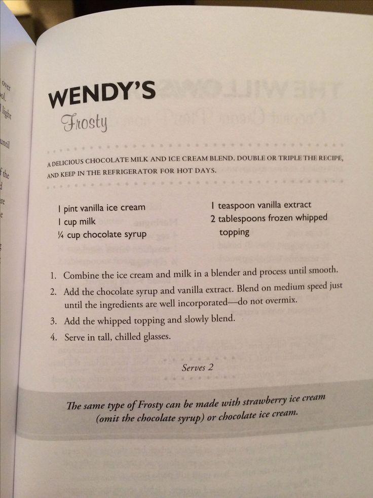 Wendy's frosty!!!   Yay