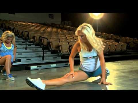 Behind the Poms: Pro Cheerleaders Stretch