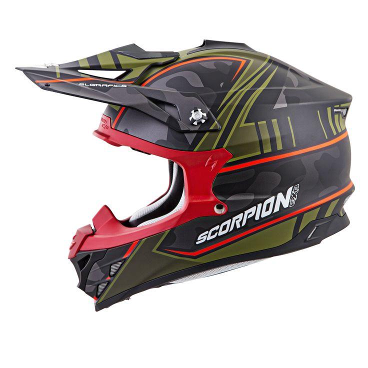 Scorpion VX-35 MIRAMAR (GRN MAT) DOT+ECE *Snow Compatible*