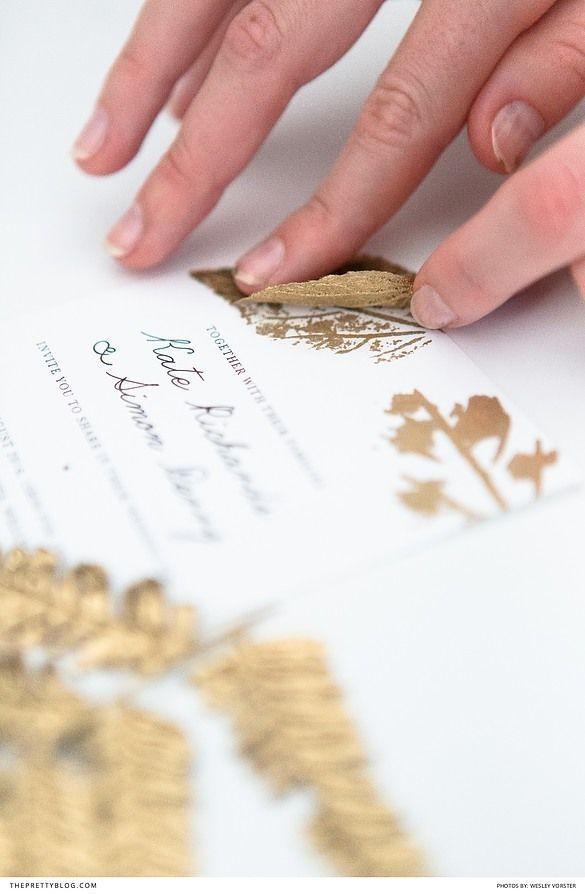Papelería de boda simple de bricolaje con detalles de pan de oro y fotografía de diseño imprimible gratis por Wesley Vorster Photography