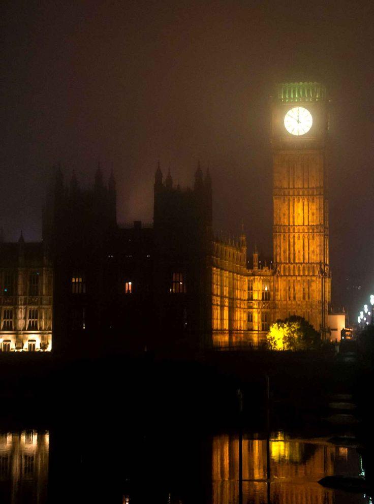 Londres sous un manteau de brouillard