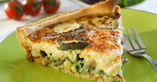 Torta salata vegana ai funghi e zucchine