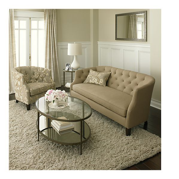 If only this coffee table matched my charcoal/silver couch: Clairemont Coffee Table in Accent Tables | Crate and Barrel