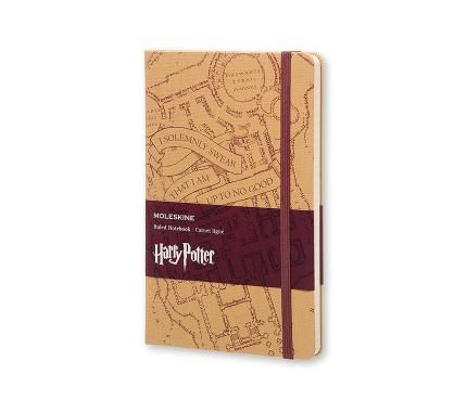 Harry Potter Limited Edition Notebook Large Ruled Kraft - Marauder's Map - Moleskine ®