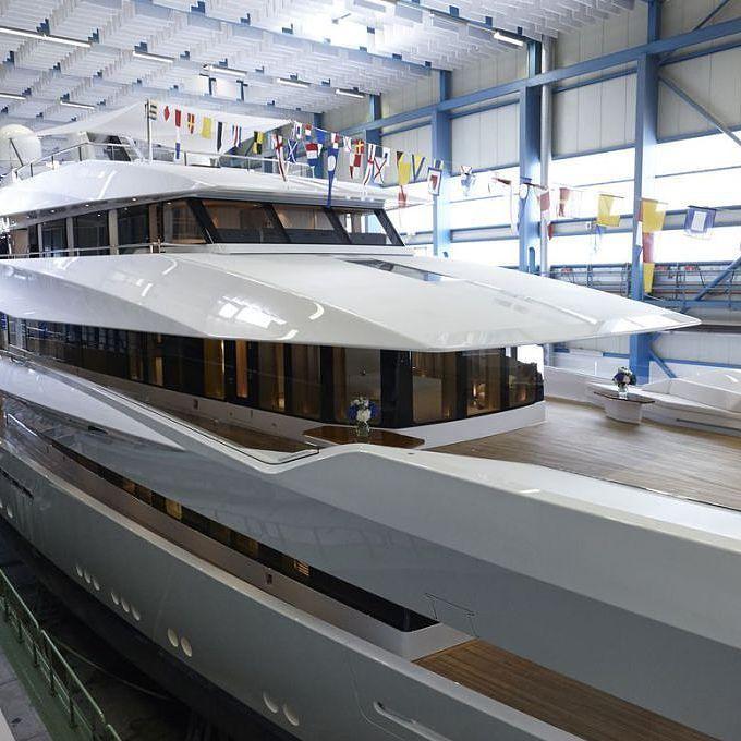 "@feadship launched the 70m  Bannenberg & Rowell designed motor yacht ""JOY""  Picture courtesy of Feadship  #yacht #superyacht #megayacht #luxury #luxuryyacht #yachts #yachtoftheday #superyachts #megayachts #millionairetoys #billionairetoys #thegoodlife #luxurytoys #rkoi #jacht #boat #yachtlife #yachting #boating #motoryacht #motorjacht #motorboat #instayacht #lifestyle #yachtporn #yate #yatch #boatporn #yachtdesign by yachtemoceans"
