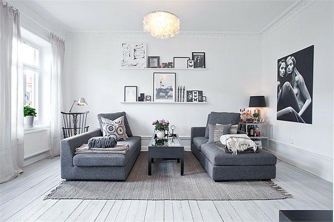 Cozy Apartment in White, Black and Grey ♥ Уютен апартамент в бяло, черно и сиво | 79 Ideas