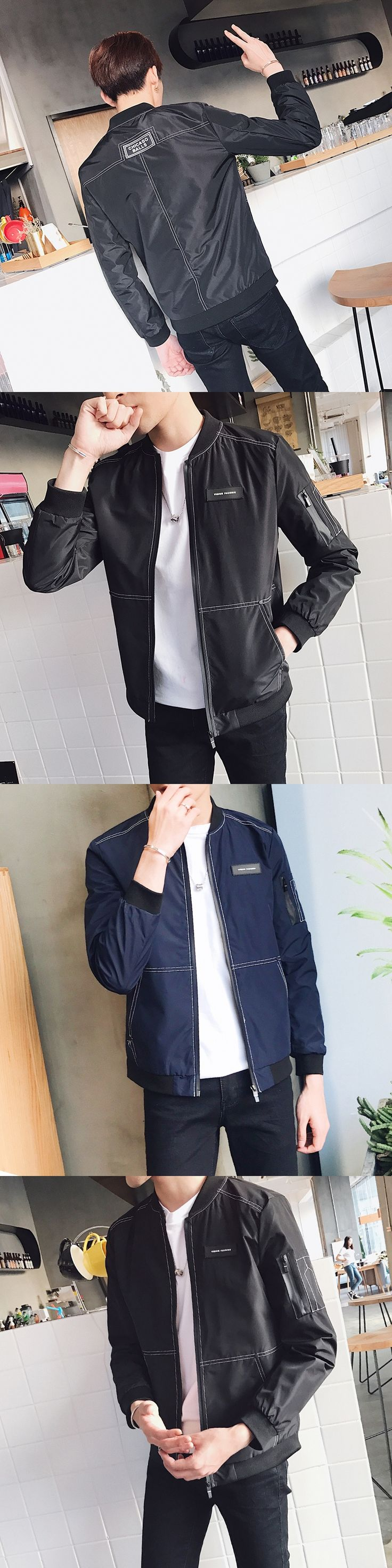 The new coat jacket male spring2017 han edition cultivate one's morality leisure trend baseball uniform thin joker nice clothes