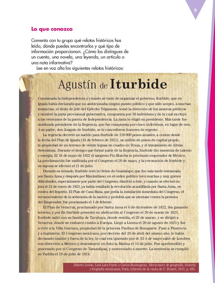 Quinto - Español14 - Bloque 1 - Reescribir relatos históricos para publicarlos