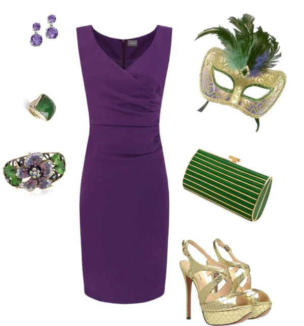 """""""ready for Mardi Gras parties to begin!"""" by doslangley on Polyvore"""