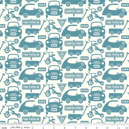Fabric Fixation - Cruiser Blvd - Cruiser Cars Blue