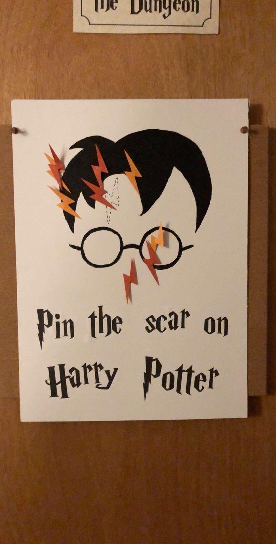 2020 Harry Potter Halloween Pin the scar on Harry Potter   Harry Potter Halloween party