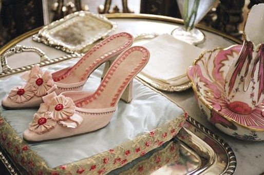 Shoes made for Marie Antoinette written/directed by Sofia Coppola, #MarieAntoinette