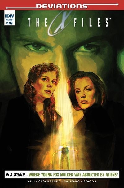 DEAL OF THE DAY X-Files Deviations (One Shot) - $4.49 Retail Price: $4.99 You Save: $0.50 In a world where young Fox Mulder was abducted by aliens and never returned, another Mulder takes up the crusade against deception! Meet Samantha Mulder, a believer who won't stop until she finds out the truth about her brother!  TO BUY NOW CLICK LINK BELOW http://tomatovisiontv.wix.com/tomatovision2#!comics/cfvg