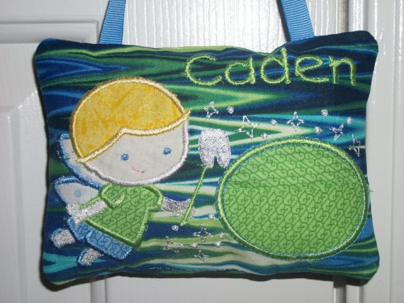 PERSONALIZED Tooth Fairy Pillows - Boys or Girls. $12.00, via Etsy.
