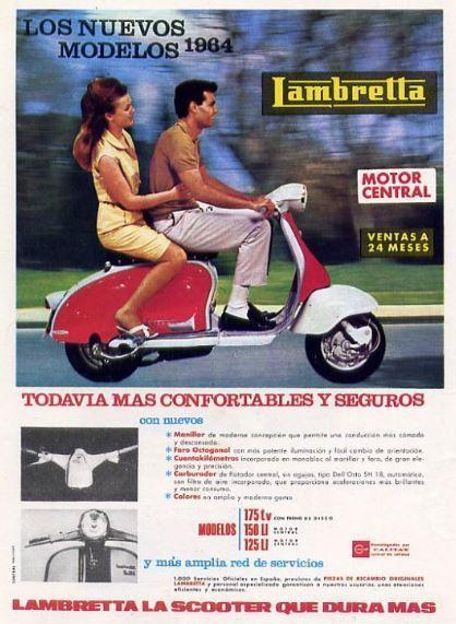 Scooter Lambretta. Año 1964