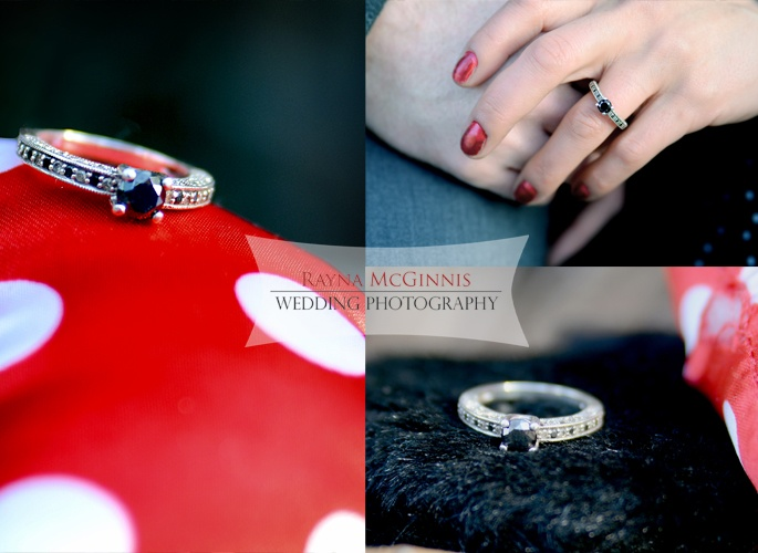 Unique engagement ring idea - the black diamond!     Engagement photography by Rayna McGinnis Photography - http://www.raynamcginnisphotography.com!