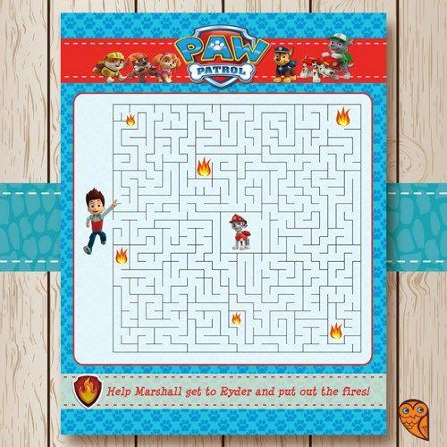 Diversión para una fiesta de cumpleañosPaw Patrol. A los niños les encantará. #Pawpatrol #juegos