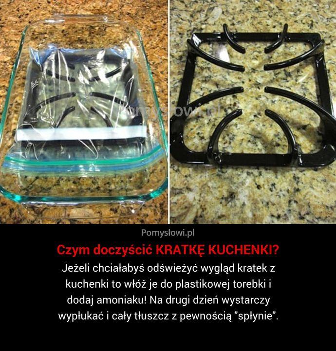 Jeżeli chciałabyś odświeżyć wygląd kratek z kuchenki to włóż je do plastikowej torebki i dodaj amoniaku! Na drugi dzień wystarczy ...