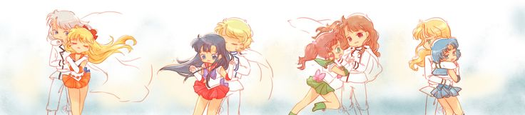 Senshi and Shitennou 羽淵卯月