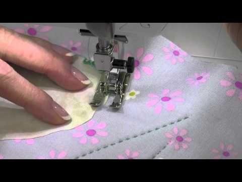 ▶ Bernina 350 32 Sara's Favorite Appliqué Stitch - YouTube