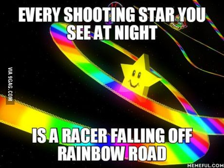 That's how shooting stars are made.