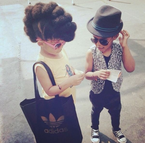 Two Little Fashionistas! - http://www.blackhairinformation.com/community/hairstyle-gallery/kids-hairstyles/two-little-fashionistas/ #kidshairstyles
