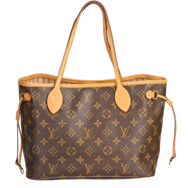 Pre-owned Louis Vuitton Tote found on Polyvore featuring bags, handbags, tote bags, purses, apparel & accessories, tote handbags, wallets & cases, stripe tote, monogrammed purses and striped tote