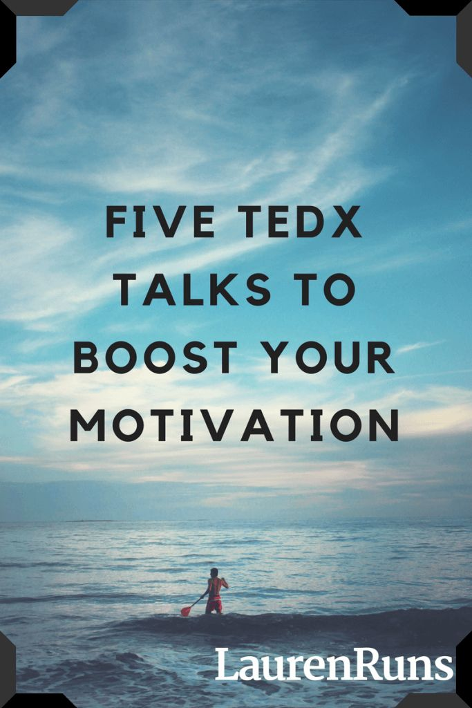 Five talks that will get you up off the couch and taking control of your day. Get to the race you want!