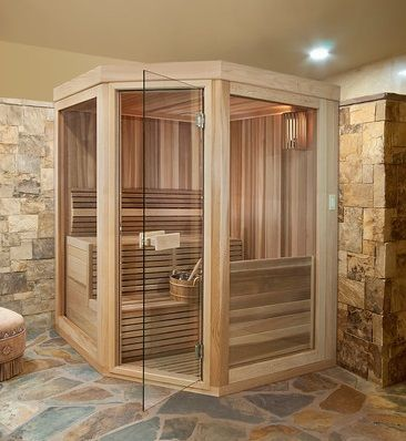 home sauna | Home Saunas Can Be Custom Designed And Built, But Basic Sauna Kits Are ...