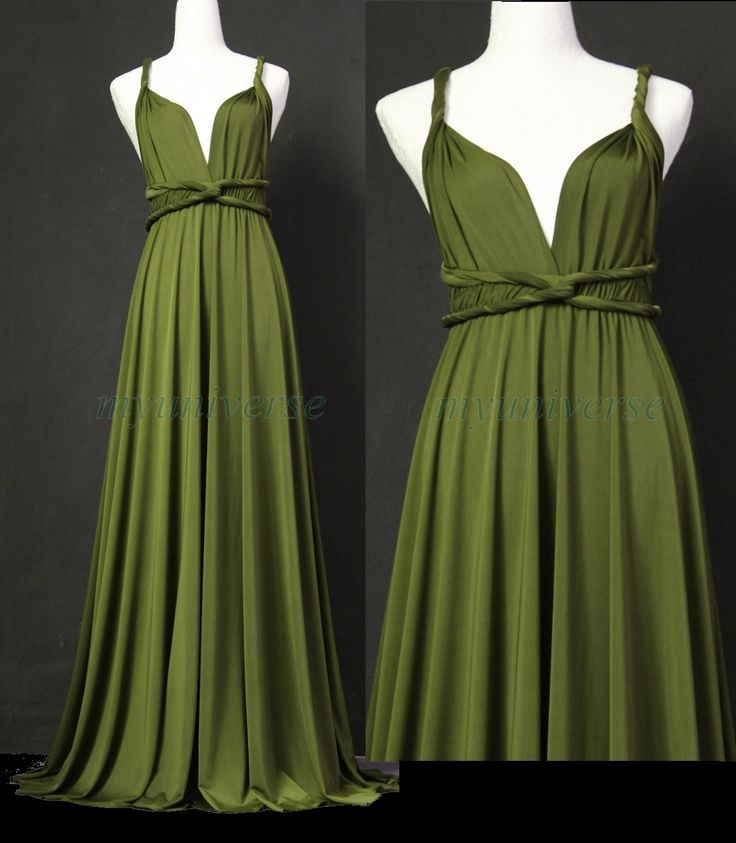 Sage Bridesmaid Dress Olive Green Infinity Dress Wrap Convertible Dress Jersey Formal Dress Gown by myuniverse on Etsy https://www.etsy.com/listing/199198301/sage-bridesmaid-dress-olive-green