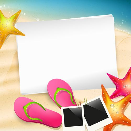 Happy summer holidays elements vector background 01 - Vector Background free download