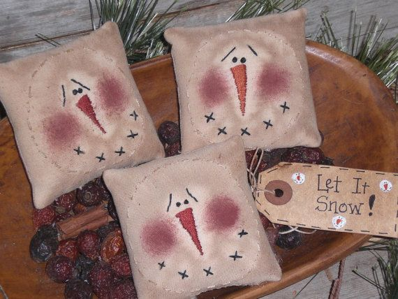 3 Primitive Embroidery Stitchery Christmas by ChooseMoose, $9.99