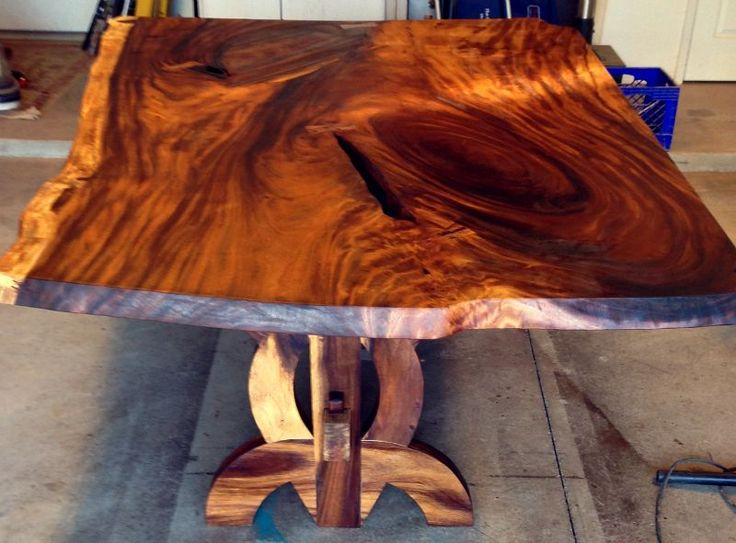 Monkey Pod Live Edge Dining Table Top Is A Single Slab