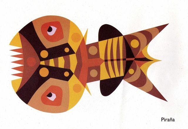 dibujos peces Cesar manrique - Buscar con Google