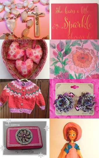 Opalescent Pink by Maggie Williams on Etsy--Pinned with TreasuryPin.com