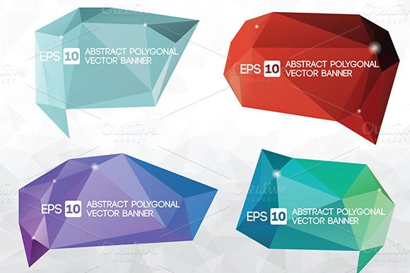 Vector polygonal banner ~ Illustrations on Creative Market