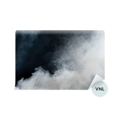 Vinyl Wall Mural White smoke on black background. Isolated. ✓ Easy Installation ✓ 365 Day Money Back Guarantee ✓ Browse other patterns from this collection!